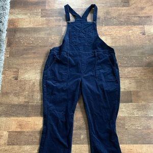 Women's Old Navy navy blue corduroy overalls